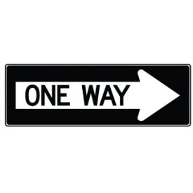One Way Right Arrow symbol sign image