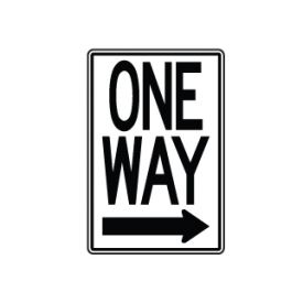 One Way Right arrow sign image