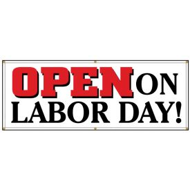 Open On Labor Day banner image
