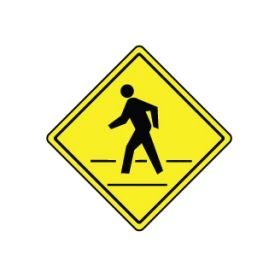 Pedestrian Crossing Diamond sign image