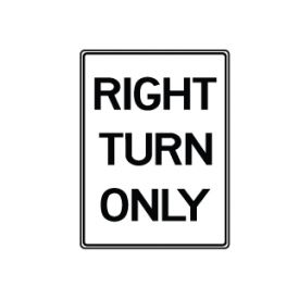 Right Turn Only sign image