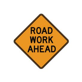 Road Work Ahead sign image