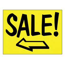 Sale left arrow sign image