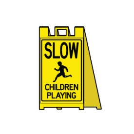 Slow children playing sign image