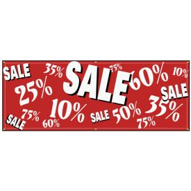 SALE percentages banner image