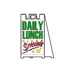Daily lunch specials sign image