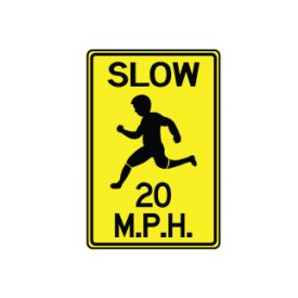Slow 20 MPH sign image