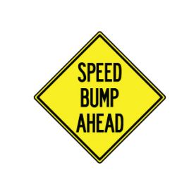 Speed Bump Ahead sign image