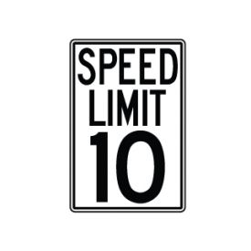 Speed Limit 10 MPH sign image