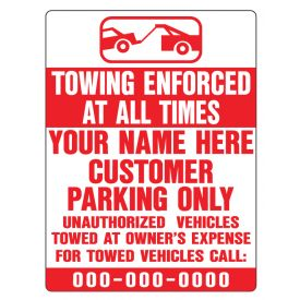 Towing enforced sign image