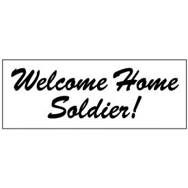 Welcome home soldier image