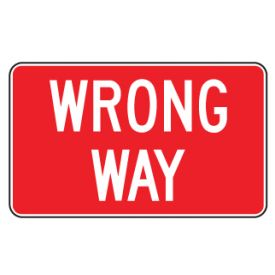 Wrong Way sign image
