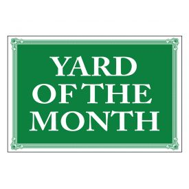Yard of the Month sign image
