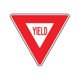 Yield sign image