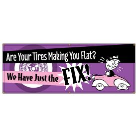 Flat Tires Retro banner image
