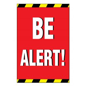 BE ALERT sign image