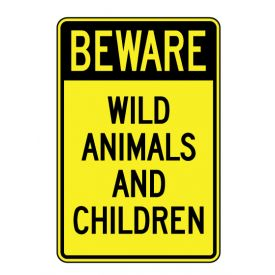 Beware Animals and Children sign image
