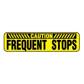 Caution Frequent Stops Y&B magnetic image