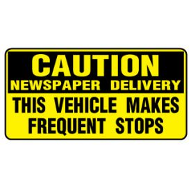 Caution News 6x12 plastic sign image