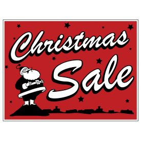 Christmas Sale retro yard sign image