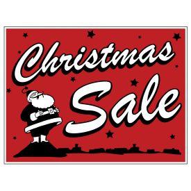 Christmas Sale retro yard sign image