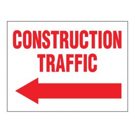 Construction Traffic left arrow sign image