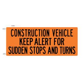 Construction Vehicle SS 24x60 v2 sign image