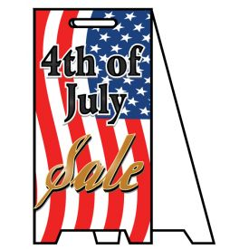 Coro A-frame 4th of July Sale sign image