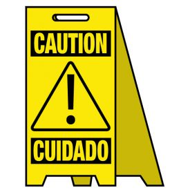Coro A-frame Caution ! Cuidado sign image