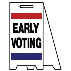 Coro A-frame Early Voting sign image