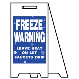 Coro A-frame Freeze Warning sign image