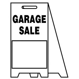 Coro A-frame Garage Sale sign image