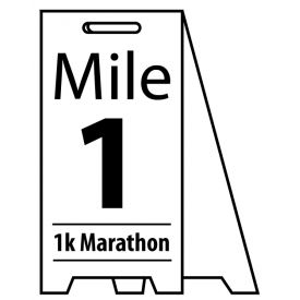 Coro A-frame Mile Marker sign image
