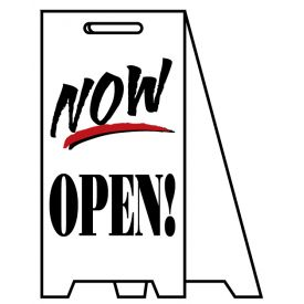 Coro A-frame Now Open sign image