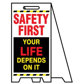 Coro A-frame Safety First Your life 2 sign image