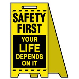 Coro A-frame Safety First Your life sign image