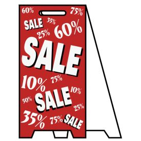 Coro A-frame Sale Percentages sign image