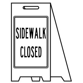 Coro A-frame Sidewalk Closed sign image