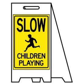 Coro A-frame Children Playing sign image