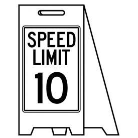Coro A-frame Speed Limit 10 sign image