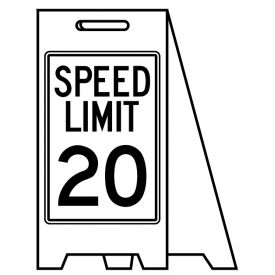 Coro A-frame Speed Limit 20 sign image