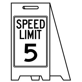 Coro A-frame Speed Limit 5 sign image