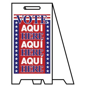 Coro A-frame Vote Aqui Here sign image