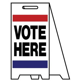Coro A-frame Vote Here sign image