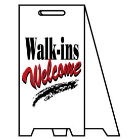 Coro A-frame Walk-ins Welcome sign image
