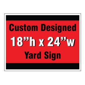 Custom design yard sign image