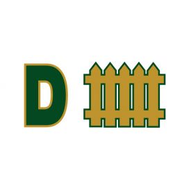 D Fence Green and Gold sign image