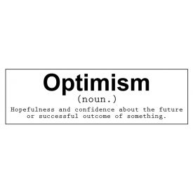 Optimism decal image