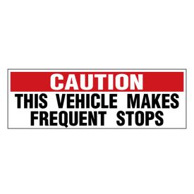 Caution Frequent Stops 2 decal image