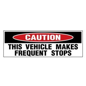 Caution Frequent Stops 3 decal image